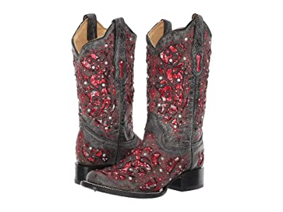 Corral Boots A3647 (Grey/Red) Cowboy Boots