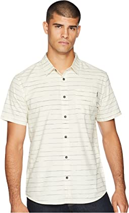 Modesto Stripe Short Sleeve Woven Top