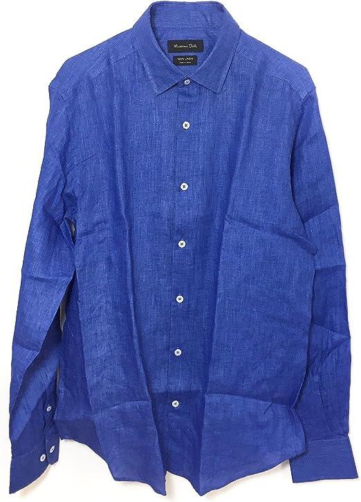MASSIMO DUTTI - Camisa casual - para hombre Azul azul Medium ...