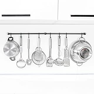 Gourmet Kitchen Rail 2 bars with 8 Hooks
