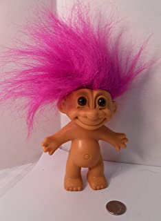 Naked Troll Doll With Neon Purple Hair and Brown Eyes 6