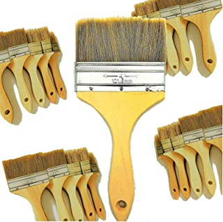 PANCLUB 20 Pack of Paint Brush for Home Wall Trim House | Chip Paint Brushes Bulk 4 inch | for Paint, Gesso, Glues, Varnishes, Stains, and Acrylics