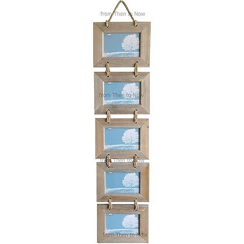 Portarretratos colgante compuesto por 5 marcos de madera ...