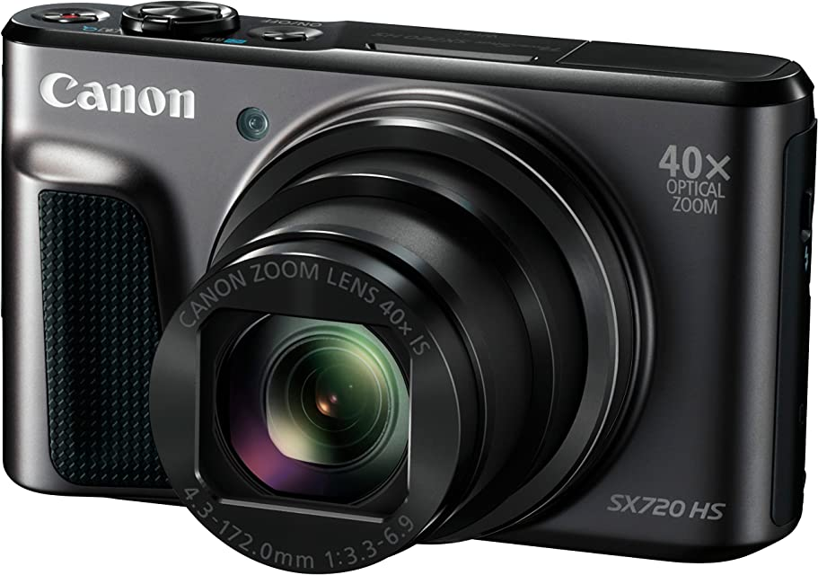 Canon PowerShot SX720 HS - Cámara Digital compacta de 20.3 MP (Pantalla de 3 Zoom óptico 40x estabilizador Video Full HD WiFi) Negro
