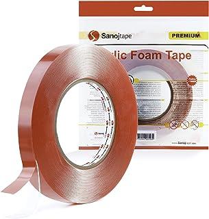 Sanojtape Heavy Duty Dubbelzijdige Transparante Tape 12mm x 10m | Sterke Montage Tape | Ideale Acryl Schuim Tape voor Auto...