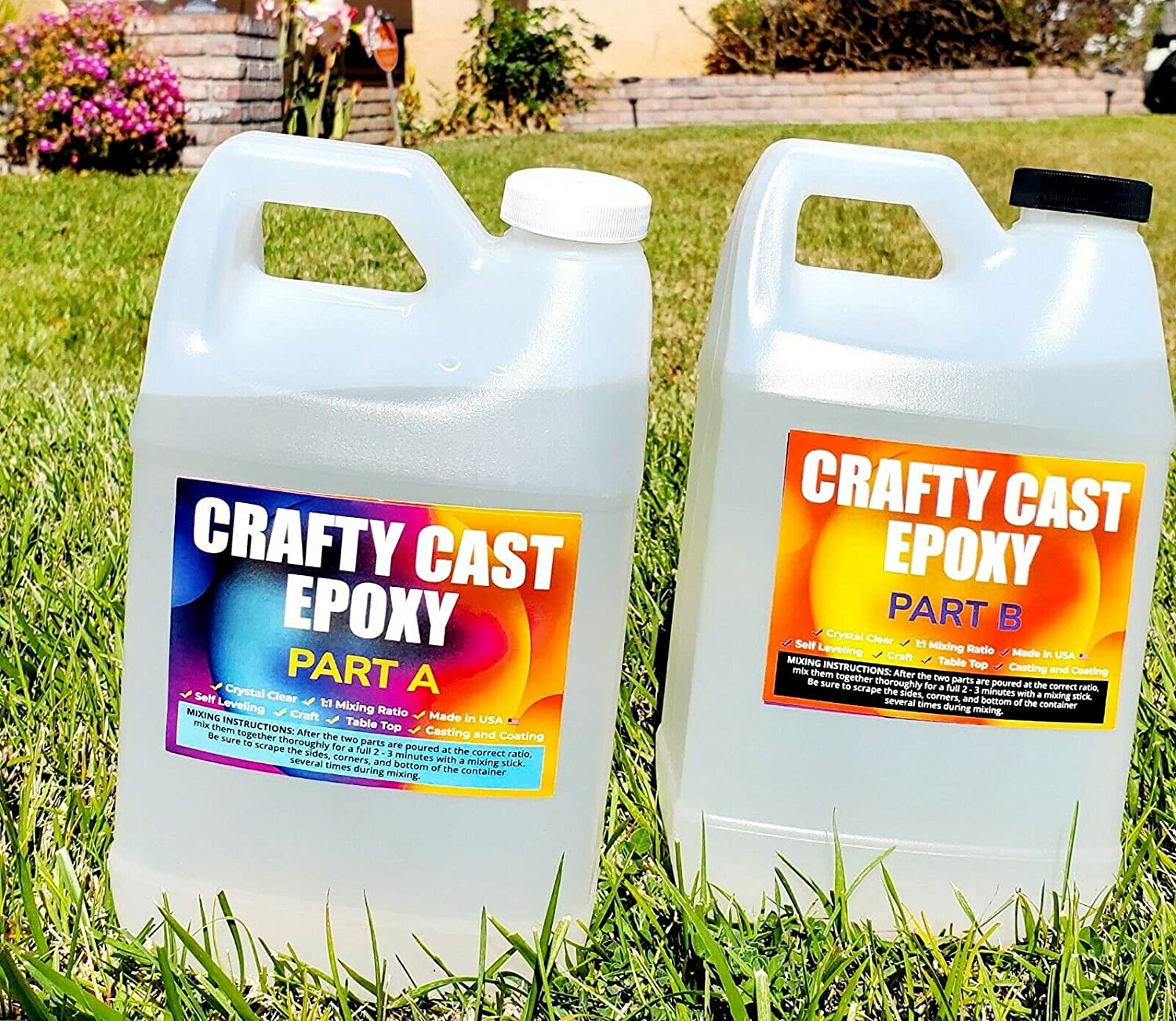 2 low-pricing Pcs of Clear Epoxy Resin Coatings Art Small for Castings Mi Low price