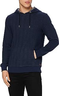 Lee Cooper Men's Recycled Herringbone Hoodie Hooded Sweatshirt