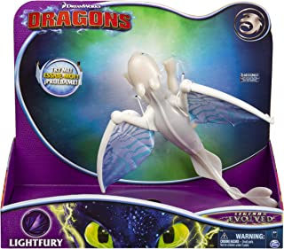 Dreamworks Dragons, Lightfury Deluxe Dragon with Lights and Sounds, for Kids Aged 4 and Up