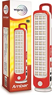 Wipro Amber Rechargeable Emergency LED Lantern (Red)