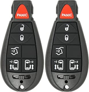 M3N5WY72XX VOFONO Key fits 2004-2007 Town and Country//2004-2007 Dodge Caravan//2004-2007 Dodge Grand Caravan Fob Keyless Entry Remote Set of 2
