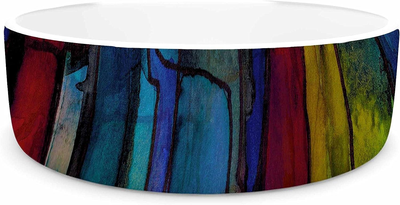 KESS InHouse EBI Emporium Facets of The Self 4  Multicolor bluee Mixed Media Pet Bowl, 7