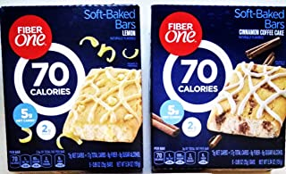 Fiber One, NEW FLAVORS VARIETY 12 PACK! 6 BOXES OF LEMON & 6 BOXES OF CINNAMON COFFEE CAKE, 5 Bars Per Box (12 PACK) 60 DELICIOUS BARS.
