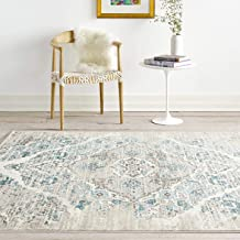 Amazon Com Cream And Blue Rug