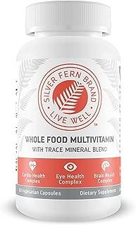 Silver Fern Whole Food Daily Multi Vitamin w/Trace Mineral Blend Supplement - 1 Bottle - 60 Vegicaps - 30 Day Supply - Natural, Non-GMO, Vegan, Men's & Women's Multivitamin - Zero Synthetics