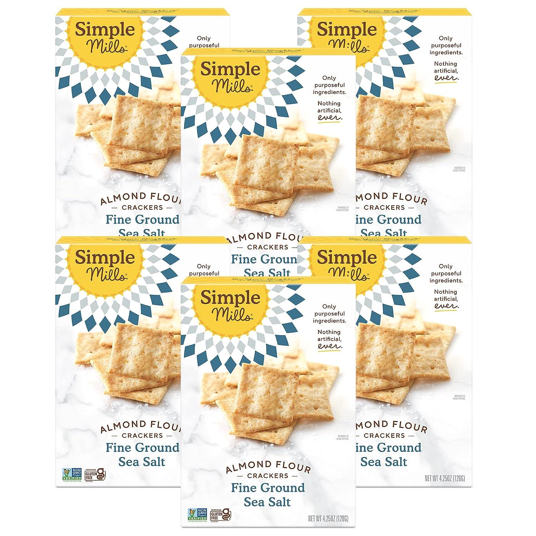 Simple Mills Almond San Diego Mall Flour Crackers Fine Gluten Salt Be super welcome Ground Sea