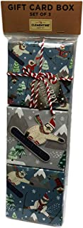 Merry Christmas Holiday Gifting Set of Three Novelty Gift Card Boxes (Polar Bears)