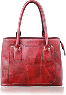 Bousni leather stuff Handbags For Women and Girls Maroon (Tan color)
