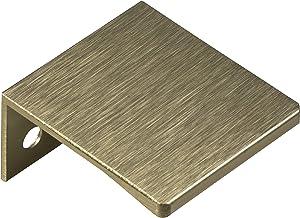 Gedotec KIKO Meubelgreep voor keuken, randgreep, aluminium ladegreep, geborsteld aluminium, kastgreep, lengte 40 mm, deurg...