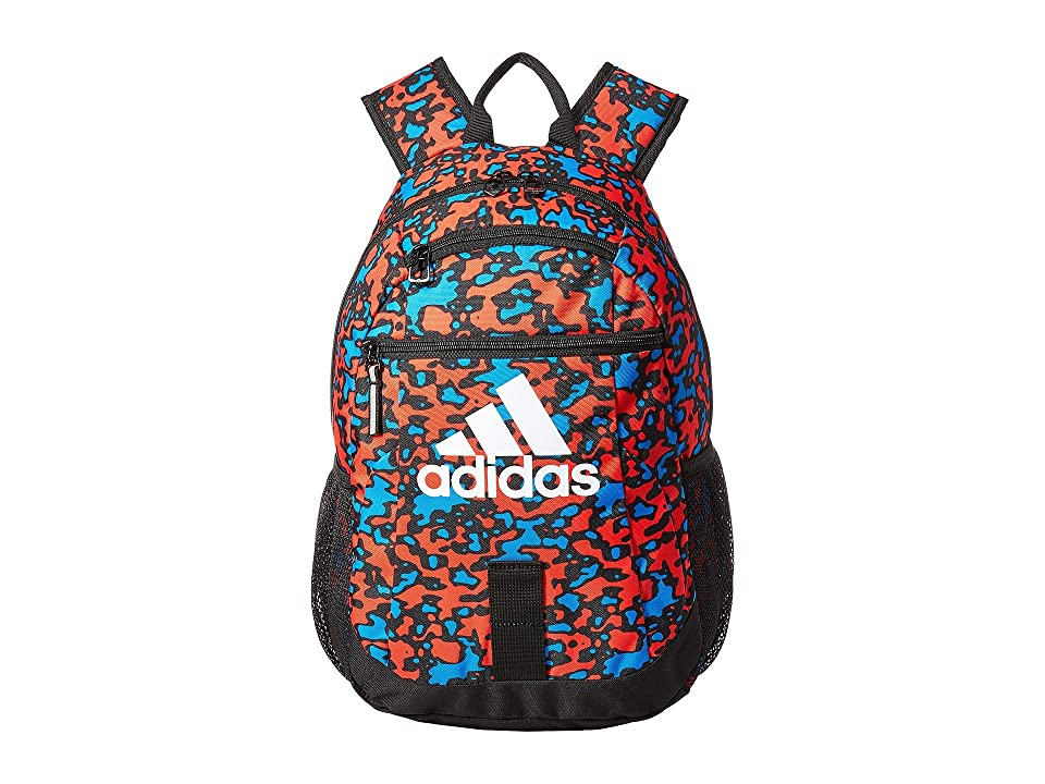 adidas Creator Backpack (Little Kids/Big Kids) (Hi-Res Red Flow Blur/Black/White) Backpack Bags