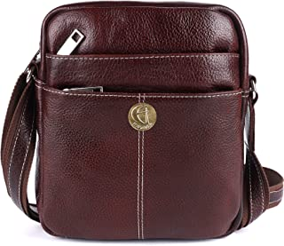 HiLEDER 100% Pure Genuine Leather Utility 7 inch Travel Office Ipad Tab Bag