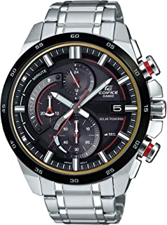 Men's Edifice Quartz Watch with Stainless-Steel Strap,...