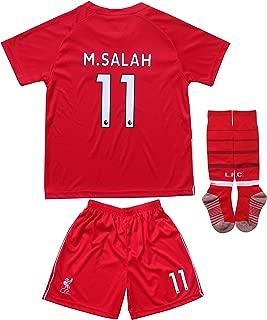GamesDur Liverpool Mo Salah #11 Home Red Kids Soccer Jersey Set Shirt Short Socks Youth Sizes