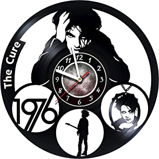 The Cure Wall clock rock band made from real vinyl record, The Cure wall poster, The Cure decal, best gift for The Cure fans - UNIQUE GIFT idea for Him and Her – Legendary Rock Band Unique Art Design