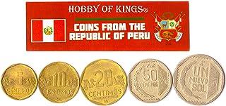 هواية الملوك عملات مختلفة - العملات الأجنبية البيروفية القديمة القابلة للتحصيل لجمع الكتب - مجموعات فريدة من المال التذكار...
