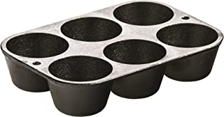 Lodge L5P3 Cast Iron Cookware Mini Muffin/Cornbread Pan, Pre-Seasoned