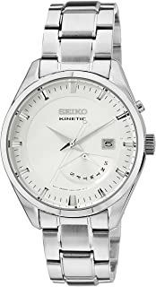 Seiko Mens Kinetic Watch, Analog Display and Stainless Steel Strap SRN043P1