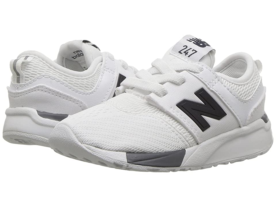 New Balance Kids KA247v1I (Infant/Toddler) (White/Black) Boys Shoes
