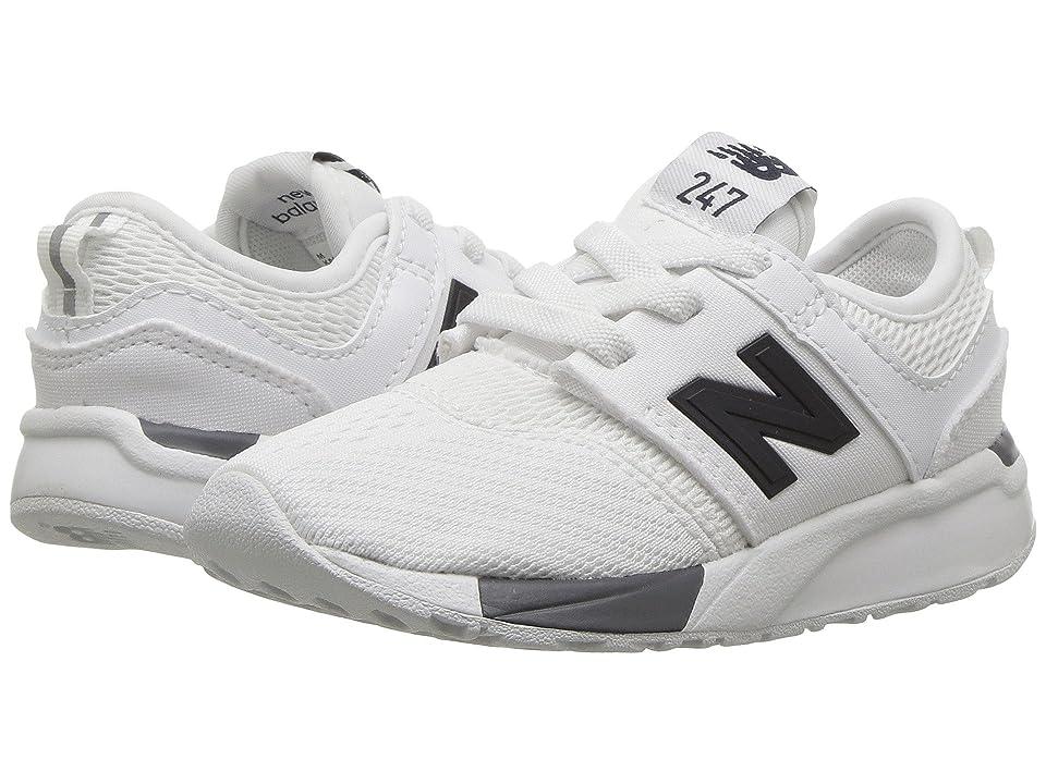 New Balance Kids KA247v1I (Infant/Toddler) (White/Black) Boys Shoes
