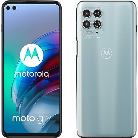"Motorola moto g100 (5G, fotocamera 64 MP, batteria 5000 mAH, 8/128 GB, Display 6.7"" FHD+ 90Hz, NFC, Dual SIM, Android 11), Iridiscent White, cover inclusa"