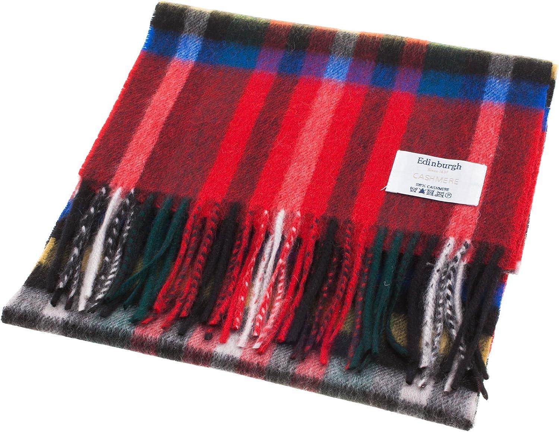 Edinburgh 100% Cashmere Unisex Scottish Tartan Multicolor Scarf Exploded Stewart Royal (One Size)