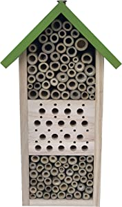 Shinegro Insect Wooden House bee Hotel Bug Home Hive Sanctuary for Carpenters Mason Solitary Bee in Garden 10.2