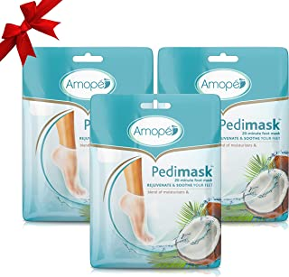 Amope Pedimask 20 Minute Foot Mask (Coconut, Pack of 3)