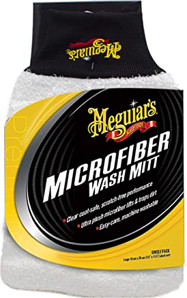 Meguiars X3002 Microfiber Wash Mitt – Super-Thick Reusable Wash Mitt for Ultimate Finish