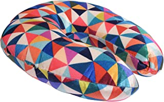 RADANYA Abstract Digital Printed Velvet Premium Supercomfy U Shaped Pillow Soft Comfort Neck Support Car Home Nursing Cushion Travel Accessories-Multi