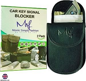 Car Key Signal Blocker Case Keyless Entry Fob Guard Signal Blocking Pouch Bag Faraday Bag Key Guard Antitheft Fob Protector Pouch RFID WiFi GSM LTE Blocker Antitheft Key Protection