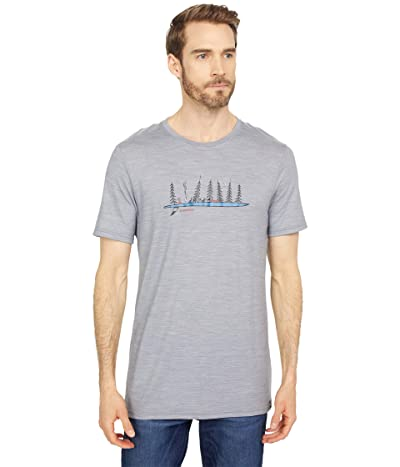 Smartwool Merino Sport 150 Camping with Friends Graphic Tee (Light Gray Heather) Men