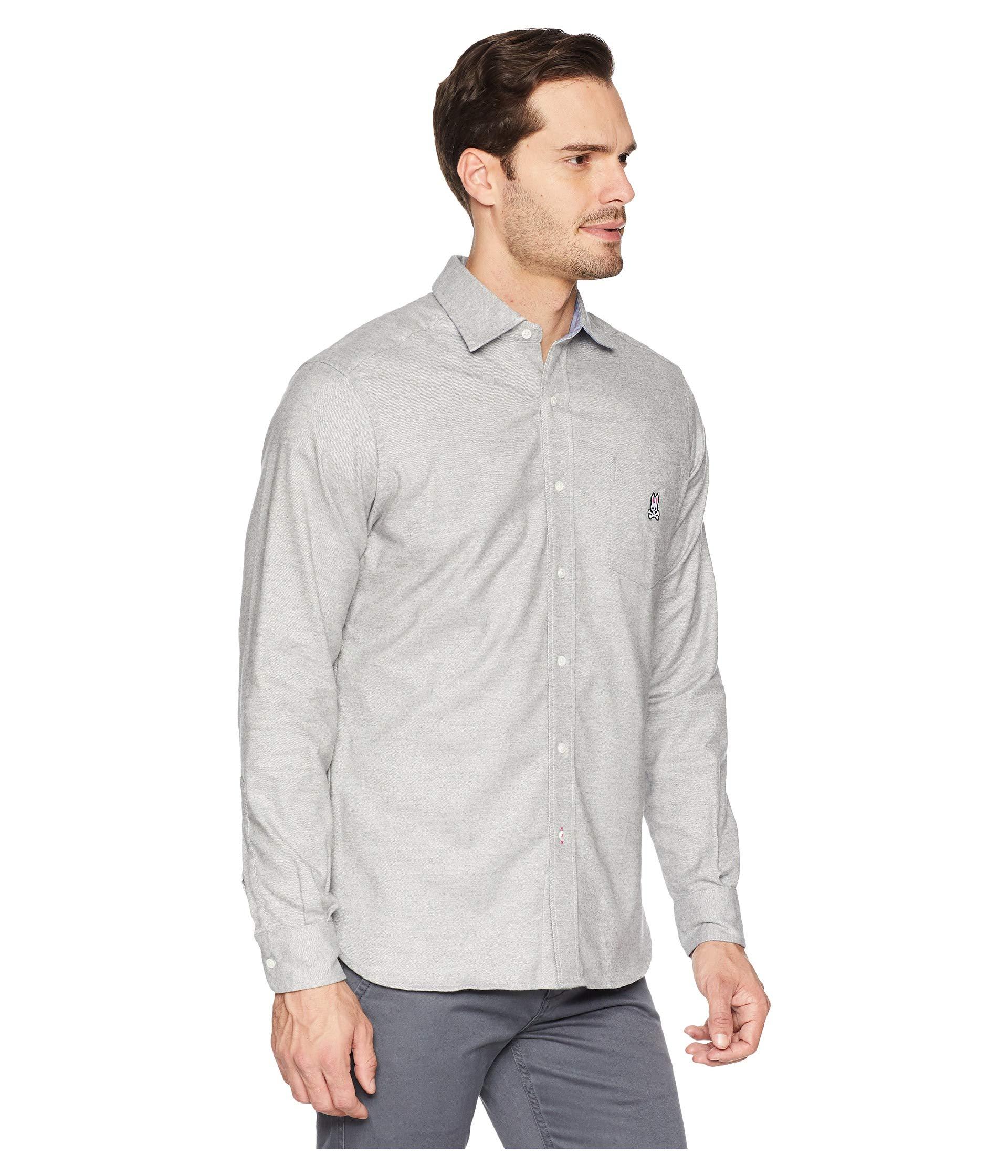 Heather Flannel Sleeve Bunny Shirt Psycho Grey Long nCX4wStq