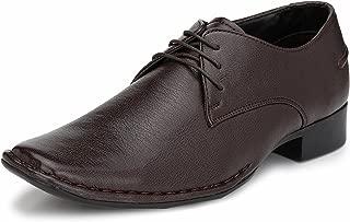 GUAVA Men Broad Formal Shoes - Brown