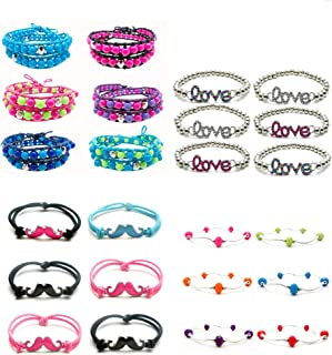 Bracelet Party Favors Kit for Women Men Girls Teens Kids I Bracelets & Free Favors Bags| High Quality Fashion Jewelry | Assorted Styles | Frogsac USA Seller (4)