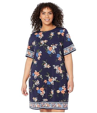 MICHAEL Michael Kors Plus Size Blooming Bouquet Dress (Coral Peach) Women