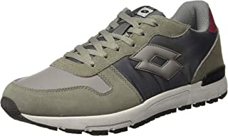 Lotto Men's Runner Gry CEM/Asphalt Track and Field Shoes-9 UK/India (43 EU) (8907181770598)