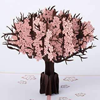 Cherry Blossom Tree Pop Up Card by GalaxyPop, 3D Birthday Card, Any Occasion Card, Dating Card, Valentine, Wedding, Thank you, Happy new year card