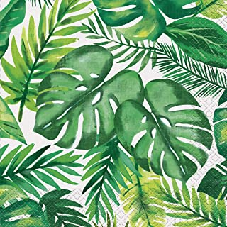 Palm Leaves Tropical Lunch Napkins 6.5