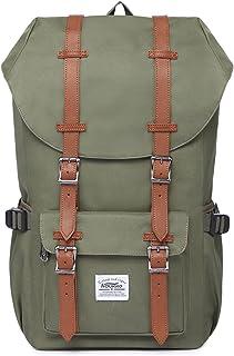 KAUKKO Rucksack Damen Herren Studenten 17 Zoll Backpack für 15 Notebook Lässiger Daypacks Schüler Bag für Wandern 47 cm, 22.4 L