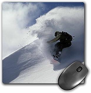 3dRose LLC 8 x 8 x 0.25 Inches Mouse Pad, Snowboarding Mt Baker Washington Stephen Matera (mp_96825_1)