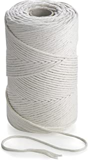 MB Cordas Macrame Cord 3mm x 200 m Single Strand Twisted Natural Cotton Rope - 1PLY Strong Cotton String - Macramé, Weavin...